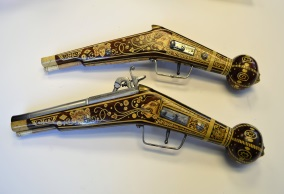 Intricate Hand Painted Replica Prop Pistols
