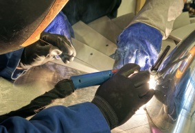 Welding Aluminium Propellers for Hackett's Window Display