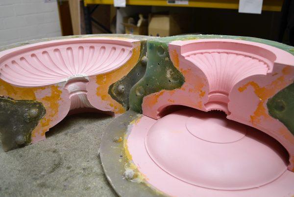 Silicone and fiberglass Mould of a Replica Pot